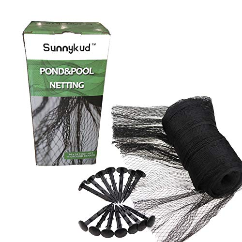 Sunnykud 15x20 Protective Pond Netting Garden Mesh Netting Kit,Pool and Pond Net with Extra Fine Mesh,Cover for Leaves