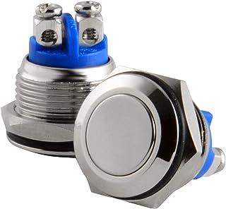 WHHHuan Démarrage de 16mm / Bateau Moment Push Button en Acier Inoxydable en Acier Inoxydable étanche (Couleur : 1Pcs)