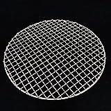 JJSPP 304 acero inoxidable redondo bbq grill de malla casera redes asadas tocino parrilla herramienta hierro redes de barbacoa accesorios antiadherente barbacoa mata