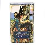 jiheousty Mazo de 78 Cartas de Wizard Tarot basado en el Juego de Mesa de Juguete de adivinación...