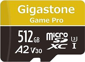 Gigastone Tarjeta de Memoria Micro SDXC de 512GB, (Clase 10, U3, V30, A2, Adaptador Gratuito) Velocidad de Lectura/Escritura hasta 100/80 MB/s. Compatible con Móvil y Cámara de Coche etc.