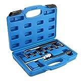 10 Piezas Escariador de Asiento de Inyectores, Set de Cortador Diesel Escariador para Asientos de Inyectores