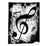 Music Notes Blanket Super Soft Micro-Fleece Sofa Living Room air Conditioning Blanket Double-Sided Blanket Warm and Comfortable Printing