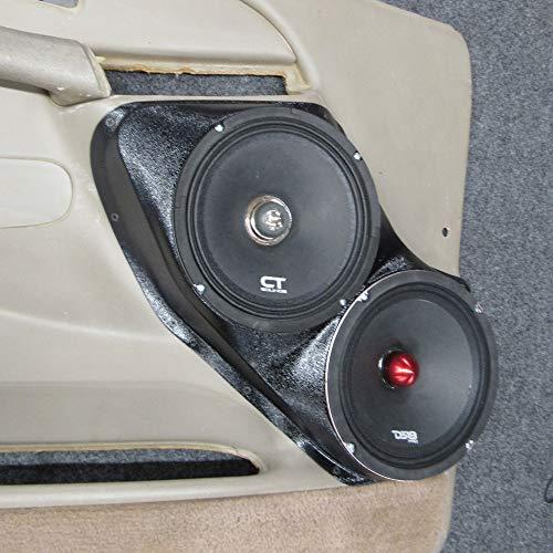 "Dual 8"" Speaker pods Tahoe Suburban Silverado Sierra Yukon Front Door Stereo Installation Upgrade"