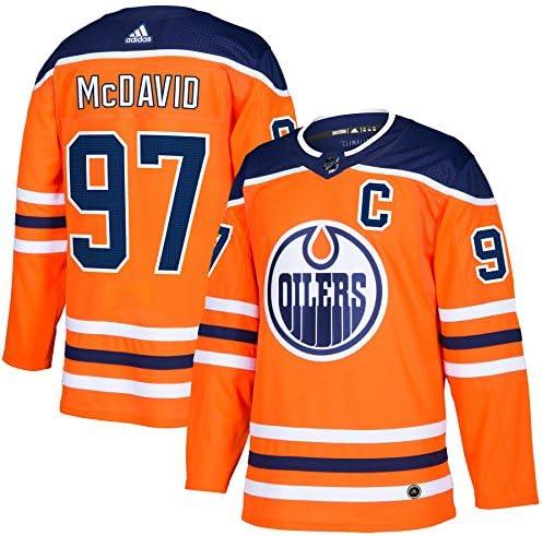 adidas Connor McDavid Edmonton Oilers NHL Men s Authentic Orange Hockey Jersey product image
