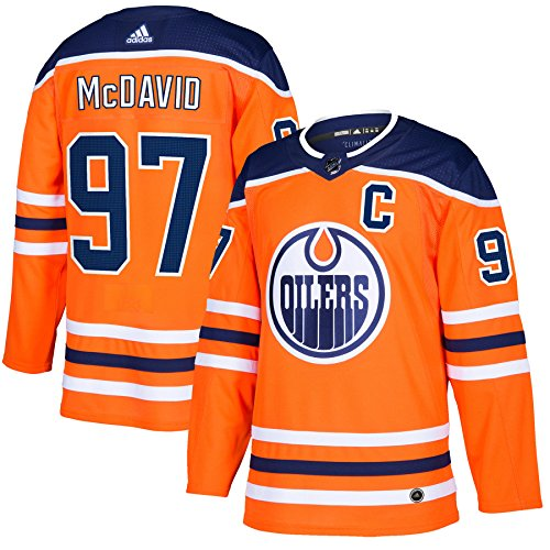 Connor McDavid Edmonton Oilers Adidas NHL Men's Authentic Orange Hockey Jersey Maillot