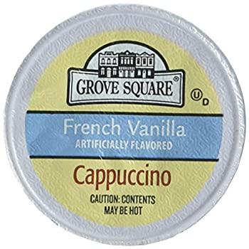 Grove Square Cappuccino French Vanilla 50 Single Serve Cups  Packaging May Vary