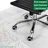 Office Marshal Chair Mat for Carpet | Eco-Friendly Series Chair Floor Protector | 100% Recycled (PET) Floor Mat for Office or Home Use | Multiple Sizes | Translucent