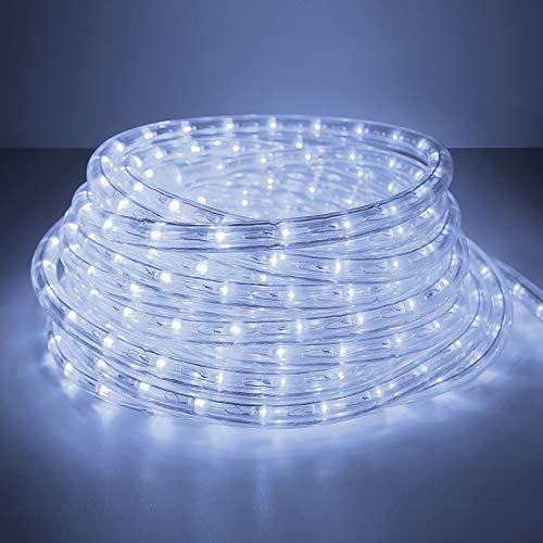 Forever Speed 6M Tubo de LED Manguera, LED de Tira de Manguera Exterior e Interior Blanco Frío,Tiras LED Manguera Adecuado para Decoración e Iluminación Navidad, Halloween, Boda,Fiesta, Hotel