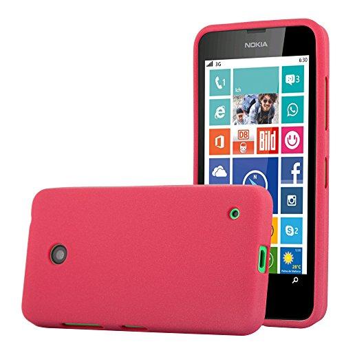 Cadorabo Funda para Nokia Lumia 630 en Frost Rojo - Cubierta Proteccíon de Silicona TPU Delgada e Flexible con Antichoque - Gel Case Cover Carcasa Ligera