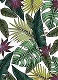Deco&Fun - Alfombra Vinílica Nature Tropical Blanco 160x220cm - Alfombra PVC Alfombra vinílica Cocina- Alfombra vinílica salón - Alfombras de Vinilo