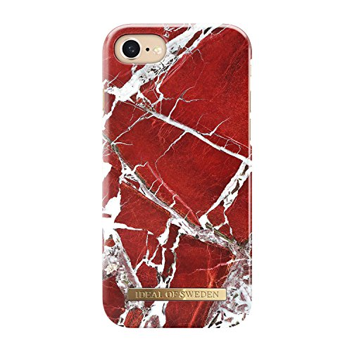 iDeal of Sweden Fashion Case para iPhone 6/6s/7/8 Scarlet Red Marble
