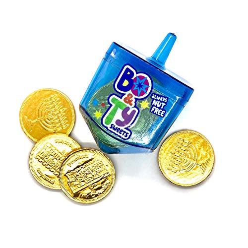 Chanukah Dreidel Filled With Nut-Free Chocolate Gelt Coins