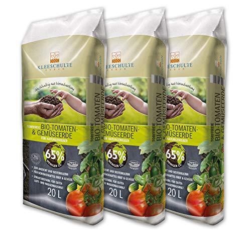 Kleeschulte Bio Tomaten & Gemüseerde torffrei 3 x 20 Liter