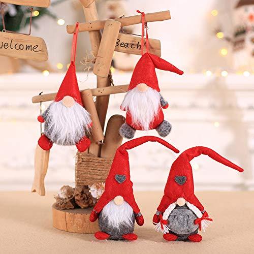 Blaward Weihnachten Ornament Plüsch Tomte Puppe Spielzeug Haushalt Tabletop Santa Figuren Dekoration Geschenk für Urlaub Weihnachten