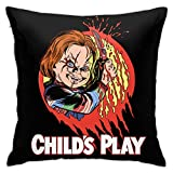 Chucky Horror Movie Hallowe'En Decorative Pillow Covers Set Cushion Case for Sofa Bedroom Car 18 X 18 in
