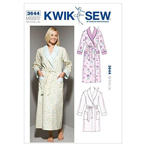 Kwik Sew K3644 Robes Sewing Pattern, Size XS-S-M-L-XL
