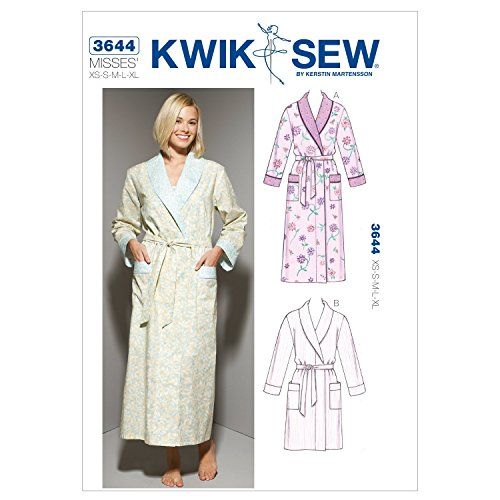 Kwik Sew K3644 Robes Sewing Pattern, Size XS-S-M-L-XL