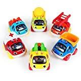 Pull Back Vehicles Toy Cars, 6 Pack City Cars and Trucks Model Cars,Toys for 1 2 3 4 5 Year Old Boys, Pull Back & Go Car...