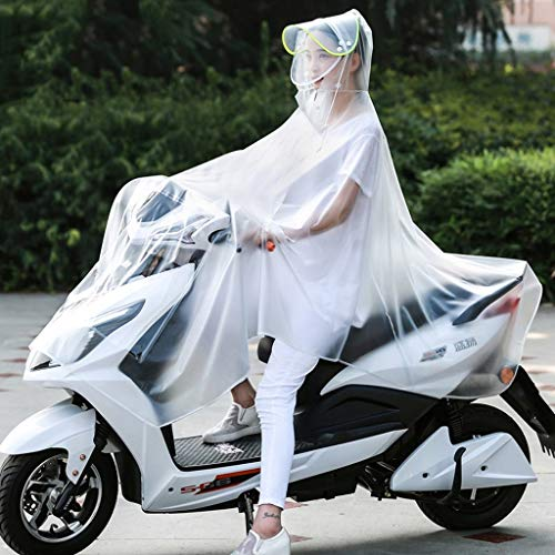 WYJW eenvoudige dubbele afneembare dubbele transparante Poncho elektrische fiets rijden regenjas XXX-Large C