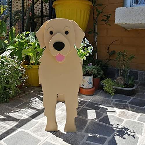 German Shepherd Planter Pot, French Bulldog Flower Pot Planter - Dog Wooden Flowerpot Pet Potted Ornaments, Cute Cartoon Animal Dog Shaped Ceramic Succulent Cactus Flower (B)