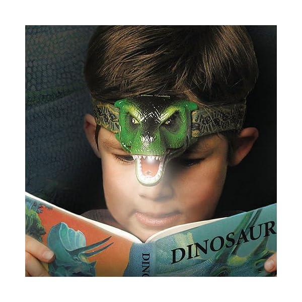 El faro LED original de DinoBryte - Linterna frontal de dinosaurio T-Rex para niños | De cabeza de juguete de dinosaurio… 1