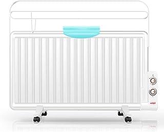 ZSIF Calentador Eléctrico, 1300W Hogar Inteligente Calentador De Aceite Radiador Eléctrico, Ahorro De Energía Sin Radiación - Blanco - Conveniente For 10-30 Metros Cuadrados