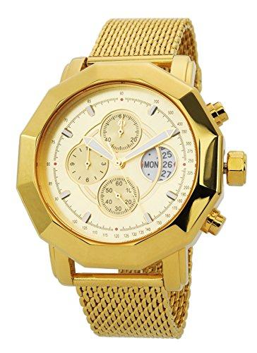 Reichenbach Reloj de Cuarzo Man Eckstein Dorado 44 mm