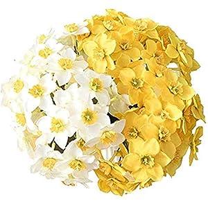 Silk Flower Arrangements RIABXZ Artificial Simulation Narcissus Flower, Wedding Scene Decor Narcissus Flower, Fake Flowers for Wedding Home Party Photo Props