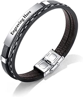 16-21cm Jewow Bijoux acier inoxydable Silicone Bracelet pour les Homme R/églable