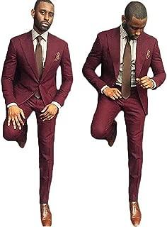 Men's 2 Piece Wedding Groom Suit Formal Business Suit (Jacket+Pants)