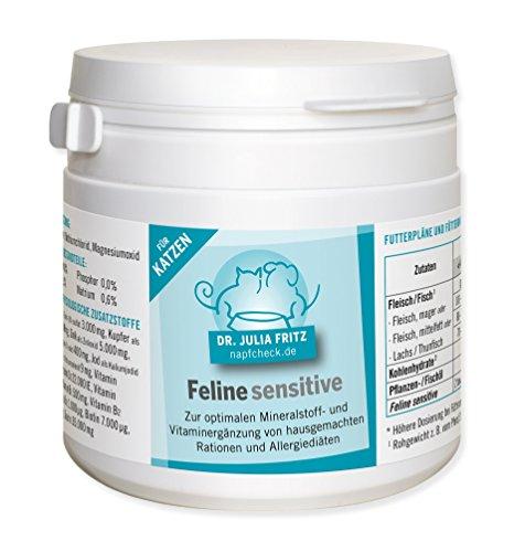 napfcheck Feline Sensitive - Hypoallergene Ergänzung für Katzen - 120 g