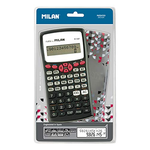 Milan 159110RBL - Calculadora científica con pantalla LCD de 2 líneas