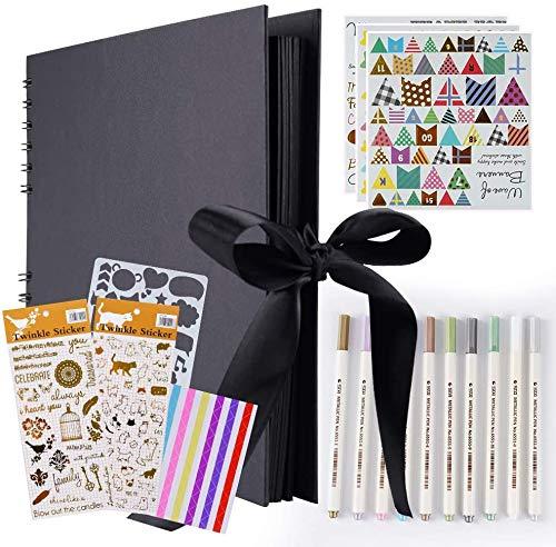 YCM Fotoalbum, Fotoalbum zum Selbstgestalten, DIY Fotobuch 80 Seiten, Größe 28.5x21cm, Kann als Abschluss Geschenk, Geburtstagsgeschenk, Hochzeitstagsgeschenk und mehr verwendet Werden