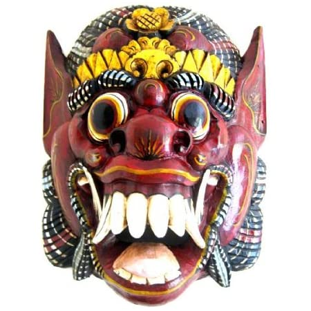 OMA African Mask Wall Decor Hanging Barong Diety Mask Good Luck Fortune Mask Federal Trademark Logo ON MASK
