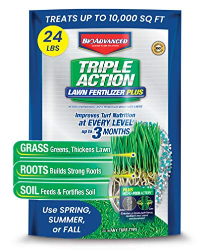 BioAdvanced 709860F Science-Based Solutions Lawn Weed and Feed, 10, 000 sq', Granules