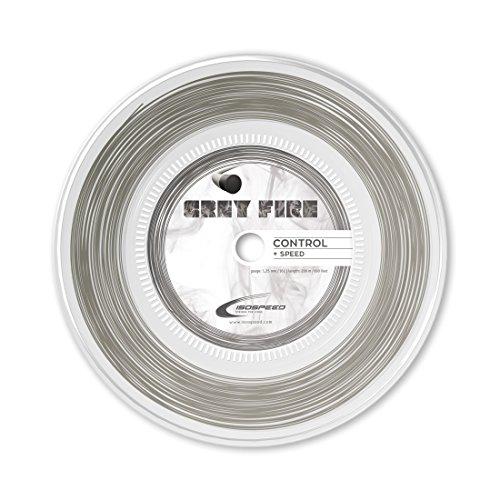 ISOSPEED Grey Fire 1, 25mm 200m Tennissaite, grau