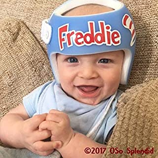 BYRON HOYLE Personalized Cranial Band Dr. Seuss Cat in The Hat Decals - My Hat is a hat That Fixes My Flat Design - Plagiocephaly Helmet Stickers