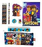 HOVUK Parachoques Papelería Set con Impreso Niños Personaje Lego Película Multicolor Usable Para Unisex Niños 3+Año
