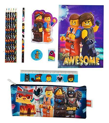 HOVUK® Parachoques Papelería Set con Impreso Niños Personaje Lego Película Multicolor Usable Para Unisex Niños 3+Año