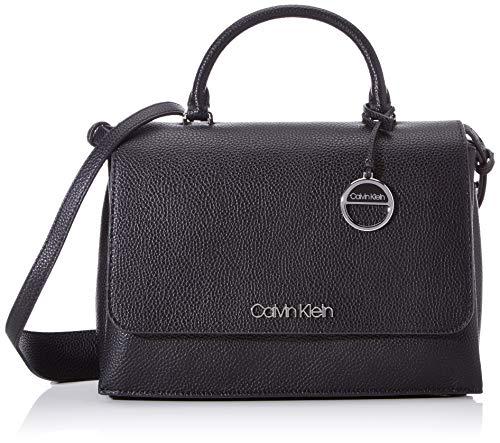 Calvin Klein Damen Sided Top Handle Tornistertasche, Schwarz (Black), 1x1x1 cm