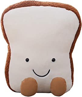 Soft Plush Stuffed Animals Pillow Toast Bread Shape Super Soft Plush Toy Pillow Pet Pal Buddy Stuffed Animals Cartoon Dolls Child Girl Baby Accompany Sleeping Animal Toys Gift No Lint
