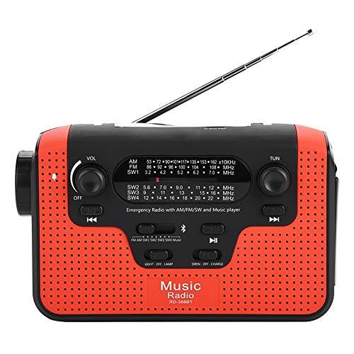 Radio portátil de emergencia, radio FM...