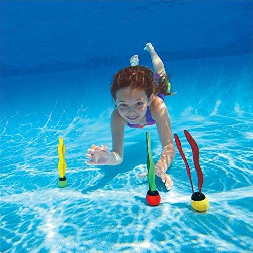 zantec bajo agua juguete Grab Dive Natación Pool Algas Agua Buceo juguete Outdoor Sport nadar juguete para Kids 3Pcs