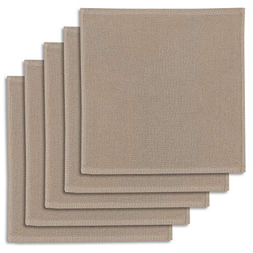 ziczac-affaires Edition, 5er-Set Geschirrtuch Kracht, Spültuch, Multifunktion Baumwolle, beige, ca.30x30cm