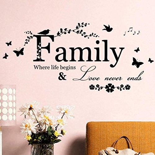 Wall Sticker, DDLBiz Adesivi Murales, Carta da Pareti 'famiglia' Decorazione Murali da Parete