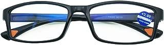 Embryform Gafas -Read Optics-Lentes de Lectura Hombre Vista Cansada: Metalizado, Media Montura y Bisagras de Resorte. Transparentes con Resistentes. Dioptrías 1/1,5/2/ 2,5/3/ 3,5/4