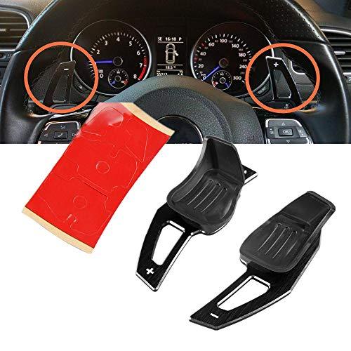 RYANSTAR Steering Wheel Shift Paddle Extension Aluminum for VW Golf 5 MK5 6 MK6 GTI R32 P1ab (Black)