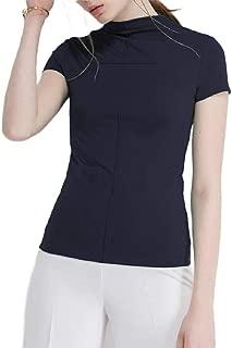 Mogogo Women's Tops Stretchy Fabric Slim-Fit Baselayer Short-Sleeve T-Shirt