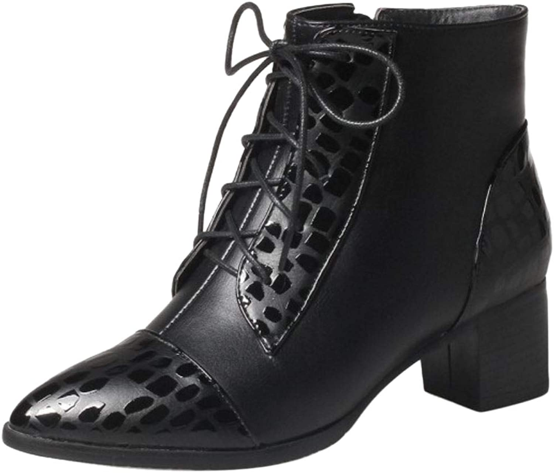AicciAizzi Women Pointed Toe Short Boots Heels